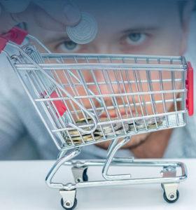 kosz zakupów w supermarkecie
