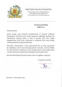 Prezydent Mista Żyrardowa - pismo